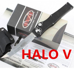 Wholesale high quality microtech halo V white elmax blade tanto drop point Aluminum handle dual action removal tool K sheath CNC freeshipping