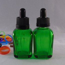Wholesale 30ml Bottle Green Glass Square Shape Bottle with Child Proof and Tamper Evident Green Color Glass Dropper Bottle Best Price