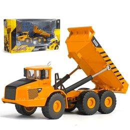 Wholesale 1 Simulation Backhoe Loader Model Car Alloy Plastic Transport Mine Engineering Vehicle Model Toy For Boys Kid Children Gifts