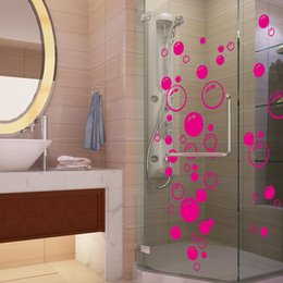 Wholesale Colorful Air Bubbles Wall Stickers Waterproof Removable Wall Decals for Bathroom Toilet Room Door Home Decoration