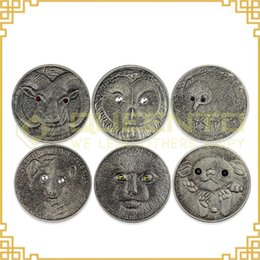 Wholesale Of Red Book Coins Wildlife Protection Mongolia Animals Coins Togrog OZ Antique Silver Coins Set With Fake Crystal