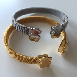 Wholesale Tous Bracelet Fashion Gold Silver Bracelet Jewelry Bear Cute Women Bracelet Titanium Stainless Steel Bracelet