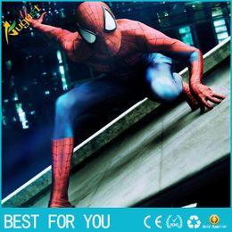 La réalisation de films en Ligne-Film Coser-5 de haute qualité Custom Made Amazing Spider Man Cosplay Zentai Costume Incroyable Costume Spiderman