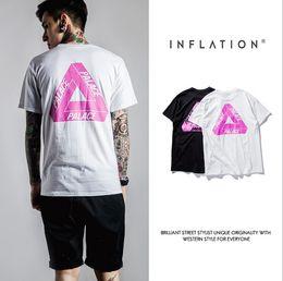 Hot Sale 2016 New Mens Summer Tops Tees Short Sleeve t shirt Man PALACE Start Printed Cotton t-shirt Men Designer Clothing