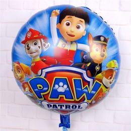 Wholesale NEWEST Best sell balloon in European inch patrol for Children s birthday party decoration Cartoon animation film design