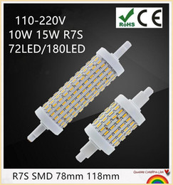 YON 10PCS R7S LED Bulb 5W 10W SMD4014 220V-240V 78mm 118mm LED Lamp Bulb R7S Light 360 Degree Halogen Lamp Floodlight