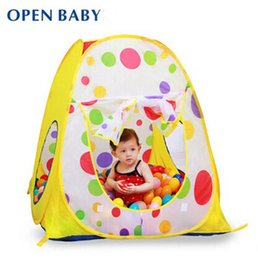 Wholesale Best Quality Tent With CM Ocean Balls Kids Game House Indoor And Outdoor Baby Teepee Ball Pit Pool Child Basket Tents