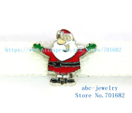 Wholesale Santa Bead Cap - 5pcs 8mm Christmas Santa Claus wholesales price Internal Dia.8mm fit 8mm wristband belt keychain dog collar bracelet SL430