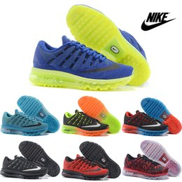 2016 Shoes Run Air Max Nike Air max 2016 Running Shoes Men 2016 New Sneakers High Quality Original Discount Walking Blue Green Men's Sports Shoes Size 7-12 Shoes Run Air Max deals