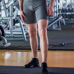 Wholesale-Free shipping men's sport tight shorts mens compression fitness clothing running basketball training trouser gym summer short