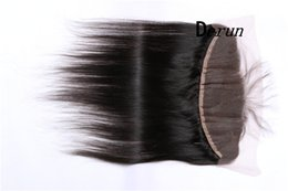 Wholesale Lace Frontal Closure Brazilian Straight Ear to Ear Lace Frontal Human Hair Extension Middle Part Lace Closure Natural Color No Shedding
