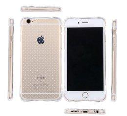 Cas transparents pour iphone 4s en Ligne-Transparent Crystal TPU Shockproof Housse de protection souple pour iPhone 4s 5s 6 6S plus 7 7 Plus S6 bord S7 bord