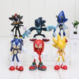 Wholesale Sonic Hedgehog Wholesale - 6pcs set 5-8cm Sonic The Hedgehog Sonic   Shadow   Tails   Knuckles PVC Action Figure Collectible Model Toys