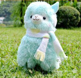 Wholesale Hot Sale cm Alpaca Peluches Toys With Earmuff Japan Alpacasso Plush Toy Jumbo Plush Animals Toys Kids Alpaca Christmas Gifts