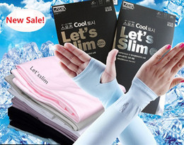 Wholesale Free shhipping New Update Let s slim Outdoor Games Sports Hiking Cycling Arm Sleeves Sun UV Protection Bike Bicycle ice silk breathable