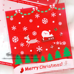 Wholesale Christmas Gift Wrapping Bags Baking Food Plastic Packaging Bag Christmas Decorations Packaging Biscuit Dessert Cake Pastry Bags