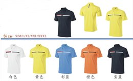 Wholesale Ti golf T shirt short sleeve dry fit sports summer appearal anti UVA