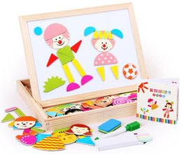 Wholesale new magnetic fight fight music. Puzzles, Sketchpad can be dual-use. Children's early childhood educational wooden toys.