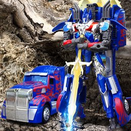 Wholesale Extra large size cm Classic Transformation Metal Robot Cars Action Toy Figures Kids Education Toy Gifts