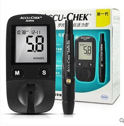 Wholesale 2016 Hot Sale Blood Sugar Tests Accu Chek Active Blood Glucose Meter With Pen For Care Blood Test Diabetes Household Monitor