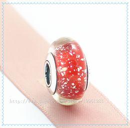 5pcs 925 Sterling Silver Screw Core Snow Whites Signature Color Fluorescence Murano Glass Bead Fit European Pandora Charm Jewelry Bracelets