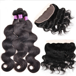 Body Wave Ear To Ear Lace Full Lace Frontals With 3 Bundles Hair Weaves Unprocessed Malaysian Hair Extensions With Full Lace Frontals