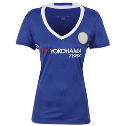 Wholesale Thai quality ladies tracksuits FC Chelsea home new kits soccer jersey Cheap woman FC city football shirt custom togs