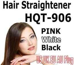 HQT-906 Hair Straightener Flat Iron Hair Irons Fast Straightening Brush Hair Styling Comb Beautiful Star US EU UK AU Plug Available