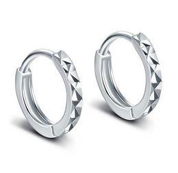 Hoop Earrings For Women 925 Sterling Silver Ear Jewelry Korean Classic Silver Mi Flower Earrings Women Girls Gift Fashion New Brand
