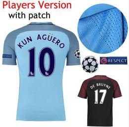 Wholesale best thai quality Manchester city man s soccer Jerseys Home away Player versi DE BRUYNE STERLING SILVA NOLITO football shirt