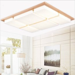 Wooden Modern led ceiling lights for living room bedroom luminaria de teto home decoration led ceiling lamp fixtures luminaire