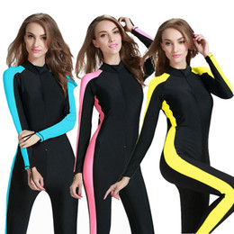 Wholesale Swimming One Piece Wetsuit Womens Snorkeling Surfing Rash Guard Swimwear Women UPF50 Quick Dry Diving Suit Swimsuit Clothing