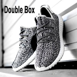 Wholesale Comfortable Double Box Boost Shoes On Sale Fashionable Cool Casual Kanye West Shoes Shop Casual Pirate Black Lace up Shoes Durable