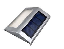 Luces led solar led solar en venta-Super brillante LED de energía solar luces cálido / blanco frío 2 LED Jardín lámpara impermeable al aire libre paisaje pared del césped luces solares CE RoHS aprobado