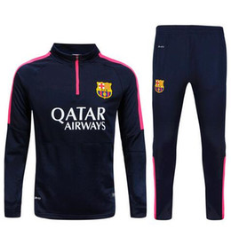Wholesale 2015 barcelona messi jerseys Survetement tracksuit soccer maillot training suits maillot Sweatshirts football shirt Pants