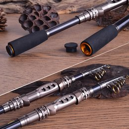 Wholesale 2016 Hot sale top Quality Telescopic Fishing Rod Retractable Fishing Pole Rods Saltwater Travel Spinning Fishing Rods