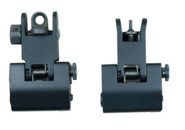 Wholesale Hunting Flip Up Front Rear BUIS Metal Floding Backup Iron Sight Set For Rifle AR15 Sight