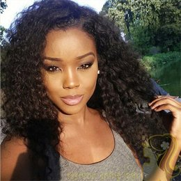 Malaysian Kinky Curly Lace Front Human Hair Wigs For Black Women Kinky Curly Glueless Full Lace Wigs Full Density Bleached Knots