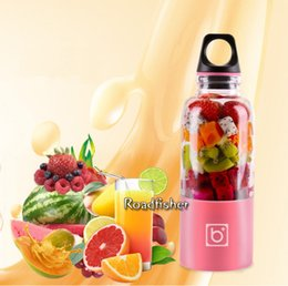 Wholesale BINGO Multifunctional Portable Mini Juice Extractor Electric Fruit Juicer USB Rechargeable Juicer Bottle Squeezer Blender Gym Outdoor Travel
