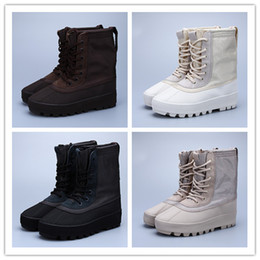 Wholesale Pirate Black Moonrock Chocolate Duck Boots Season Hot Kanye West Boost Casual Shoes Best Quality Size US