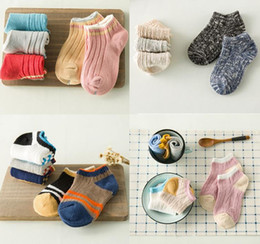 Kids Socks Cute Strip Ankle Socks Girls Cotton Infant Baby Knitted Socks Foot Warmers Children Cuffs 11355