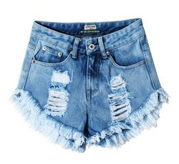 WSH017 west fashion new hot tore up women washed distressed cutoff jeans denim shorts
