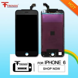 replacement Lcd 4.7'' Black White For Apple iphone 6 4.7 LCD Display Touch Screen Digitizer frame Assembly free dhl