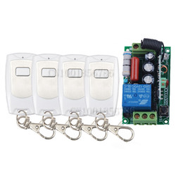 Hot AC220V 1CH 10A Radio Wireless Remote Control Learning Code Switch With 4pcs Waterproof White Transmitter Output Adjusted