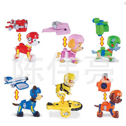 Wholesale New Patrol Puppy Dog Air Rescue Team Action Figure Toys Space Dogs Juguetes Cartoon Anime Patrol doll toys