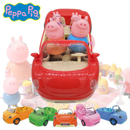 Wholesale peppa ping pig variety of color Car Family Picnic Foods Hot Cartoon Pig Toys kids Best Gift Pig Toys K20