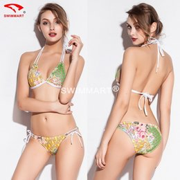Wholesale Sexy Extreme Hot Bandage Swimsuit Mini Micro Bikini Brazilian Swimwear Women Bathing Suit Push Up Fling Thong String Bikini set free freight