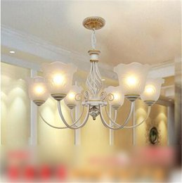 LRE039-New Arrival CE UL certificate iron glass chandeliers & culbe house lighting & glass restaurant ceiling light for sale