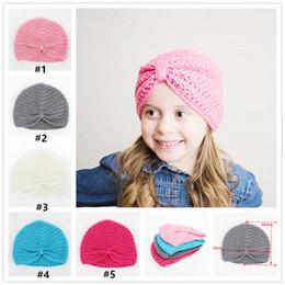 Wholesale Baby Cotton crochet Hat Toddler Soft Knit winter warmer cap infant winter beanie baby Bernat hair Accessories XM033