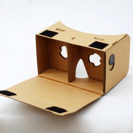 Wholesale Google Cardboard Mobile Phone Virtual Reality D Glasses Unofficial Cardboard Google Cardboard VR Toolkit D Glasses